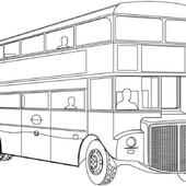 Автобусы - Распечатать раскраску для детей